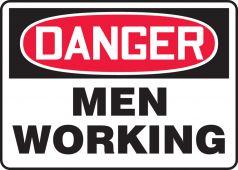 - OSHA Danger Safety Sign: Men Working