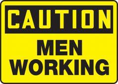 - OSHA Caution Safety Sign: Men Working