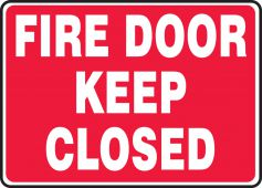- Safety Sign: Fire Door - Keep Closed