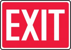 - Safety Sign: Exit