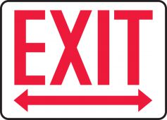 - Exit Safety Sign: Two Way Arrows