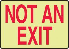 - Lumi-Glow™ Plus+ Sign: Not An Exit
