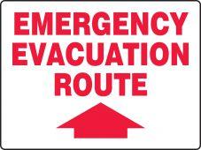 evacuation - Safety Sign: Emergency Evacuation Route (Up Arrow)