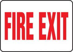 - Safety Sign: Fire Exit (Centered Text)
