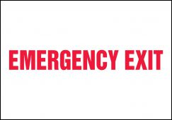 - Safety Sign: Emergency Exit (Centered Text)
