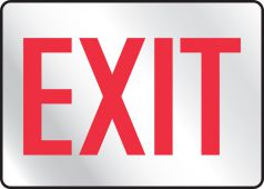 - Safety Sign: Exit (Reflective)