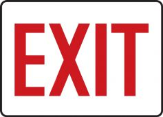- Contractor Preferred Safety Sign: Exit (Red on White)