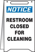 - OSHA Notice Fold-Ups® Safety Sign: Restroom Closed For Cleaning