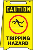 - OSHA Caution Fold-Ups® Safety Sign: Tripping Hazard