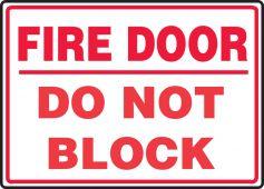 - Safety Sign: Fire Door - Do Not Block