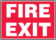 - Safety Sign: Fire Exit (White Text On Red)
