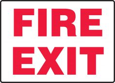- Safety Sign: Fire Exit