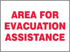 evacuation - Fire Safety Sign