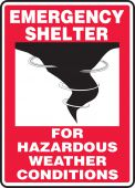 - Emergency Shelter Signs: For Hazardous Weather Conditions