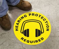 - Slip-Gard™ Floor Sign: Hearing Protection Required (Graphic)