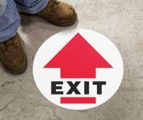 - Slip-Gard™ Floor Sign: Exit (Arrow)