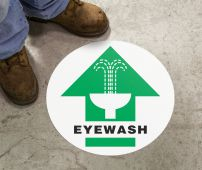 - Slip-Gard™ Floor Sign: Eyewash (Graphic And Arrow)