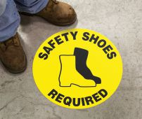 - Slip-Gard™ Floor Sign: Safety Shoes Required (Graphic)