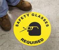 - Slip-Gard™ Floor Sign: Safety Glasses Required (Graphic)
