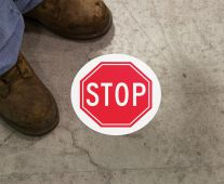 - Slip-Gard™ Adhesive Floor Safety Sign: Stop