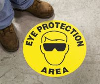 - Slip-Gard™ Floor Sign: Eye Protection Area