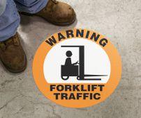 - Slip-Gard™ Floor Sign: Warning - Forklift Traffic (Graphic)
