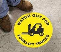 - Slip-Gard™ Floor Sign: Watch Our For Forklift Trucks