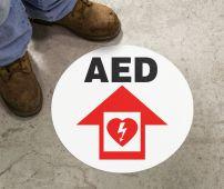 - Slip-Gard™ Floor Sign: AED