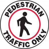 - Slip-Gard™ Floor Sign: Pedestrian Traffic Only (Graphic)