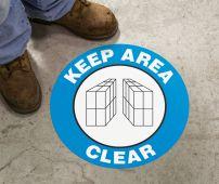 - Slip-Gard™ Floor Sign: Keep Area Clear