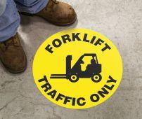 - Slip-Gard™ Floor Sign: Forklift Traffic Only