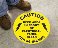 - Slip-Gard™ Floor Sign: Caution - Keep Area In Front Of Electrical Panel Clear For 36 Inches