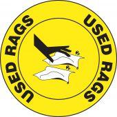 - Slip-Gard™ Floor Sign: Used Rags