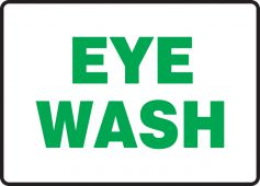 - Safety Signs: Eye Wash