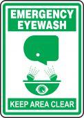 - Safety Sign: Emergency Eyewash - Keep Clear