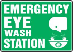 - Safety Sign: Emergency Eye Wash Station