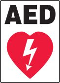 - Safety Sign: AED (Graphic)