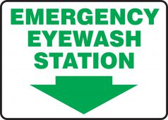 - Safety Sign: Emergency Eyewash Station