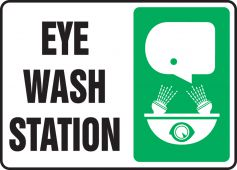 - Safety Sign: Eye Wash Station