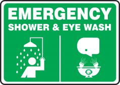 - Emergency Safety Sign: Shower & Eye Wash