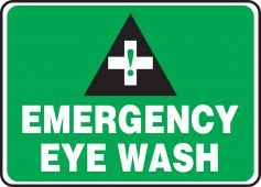 - Safety Sign: Emergency Eye Wash