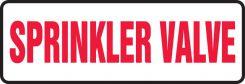 - Safety Sign: Sprinkler Valve