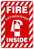 - Safety Sign: Fire Extinguisher Inside (Graphic)