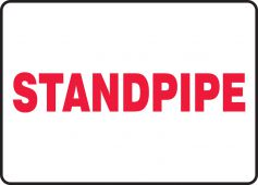 - Fire Safety Sign: Standpipe