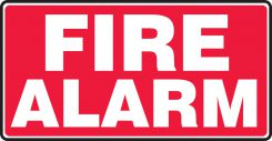 - Safety Sign: Fire Alarm (Red Background)