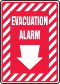evacuation - Safety Sign: Evacuation Alarm (Down Arrow)