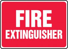 - Safety Sign: Fire Extinguisher (Red Background)