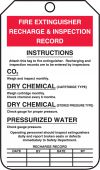 - Fire Extinguisher Tag: Fire Extinguisher Recharge & Inspection Record