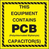 - Hazardous Waste Label: This Equipment Contains PCB Capacitor(s)