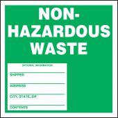 - Safety Label: Non-Hazardous Waste